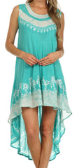 Sakkas Island Soul Hi Lo Caftan Dress / Cover Up