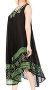 group-Black / Green (Sakkas Batik Flower Caftan Tank Dress / Cover Up)