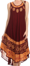 group-Chocolate Gold (Sakkas Batik Flower Caftan Tank Dress / Cover Up)