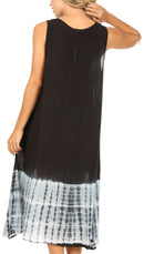 Sakkas Ilaria Women's Midi Sleeveless Casual Loose Flare Print Dress Caftan Pocket