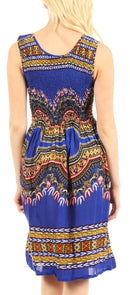 Sakkas Darcia Women's Casual Summer Cocktail Elastic Stretchy Dashiki Print Dress