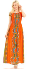 Sakkas Siona Women's Long Maxi Casual Off Shoulder Dashiki African Dress Elastic