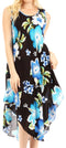 Sakkas Clara Women's Casual Summer Sleeveless Sundress Loose Floral Print Dress#color_B-Blue
