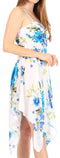 Sakkas Kiera Women's Tube Spaghetti Strap Floral Print Summer Casual Short Dress