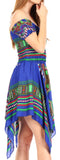 Sakkas Femi Women's Casual Cocktail Off Shoulder Dashiki African Stretchy Dress
