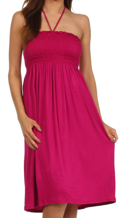 Sakkas Everyday Essentials String Halter Dress