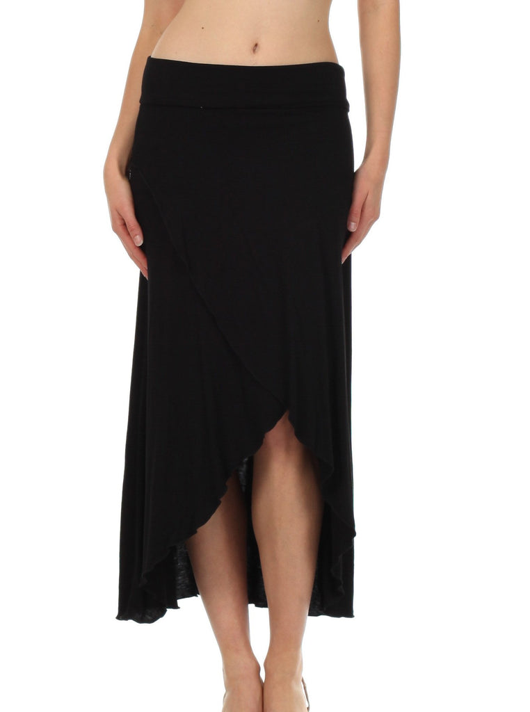 Sakkas Soft Jersey Feel Solid Color Strapless High Low Dress / Skirt