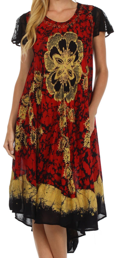 Sakkas Aloha Floral Caftan Dress