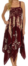 Sakkas Amara Batik Handkerchief Hem Dress