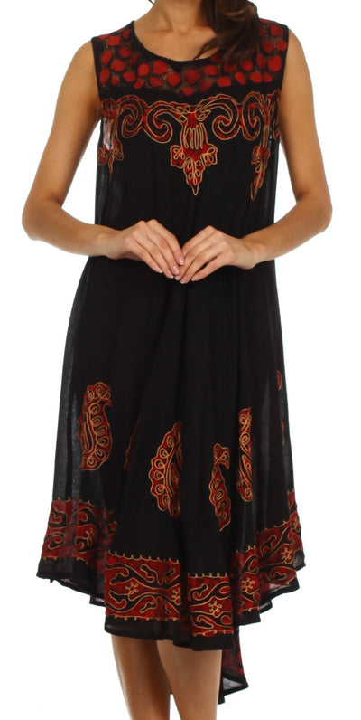 Sakkas Zayna Embroidered Caftan Dress