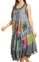 Sakkas Palm Tree Tie Dye Caftan Dress / Cover Up