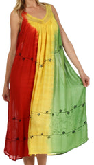 Sakkas Breezy Tri-Color Caftan Dress / Cover Up