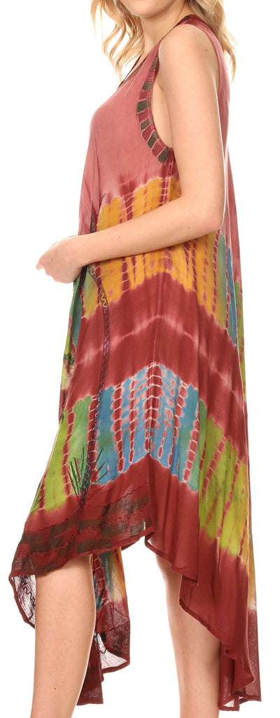 group-Brown (Sakkas Tasanee Caftan Tank Dress / Cover Up)