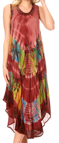 Sakkas Tasanee Caftan Tank Dress / Cover Up#color_Brown