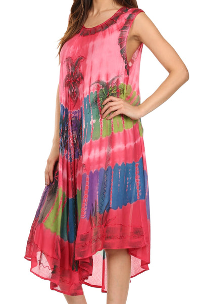 group-Coral (Sakkas Tasanee Caftan Tank Dress / Cover Up)