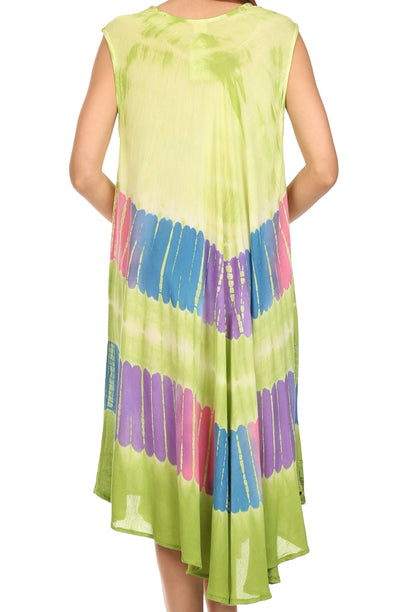 group-Lime (Sakkas Tasanee Caftan Tank Dress / Cover Up)