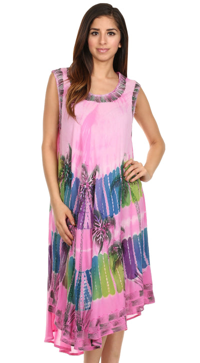 group-Pink (Sakkas Tasanee Caftan Tank Dress / Cover Up)