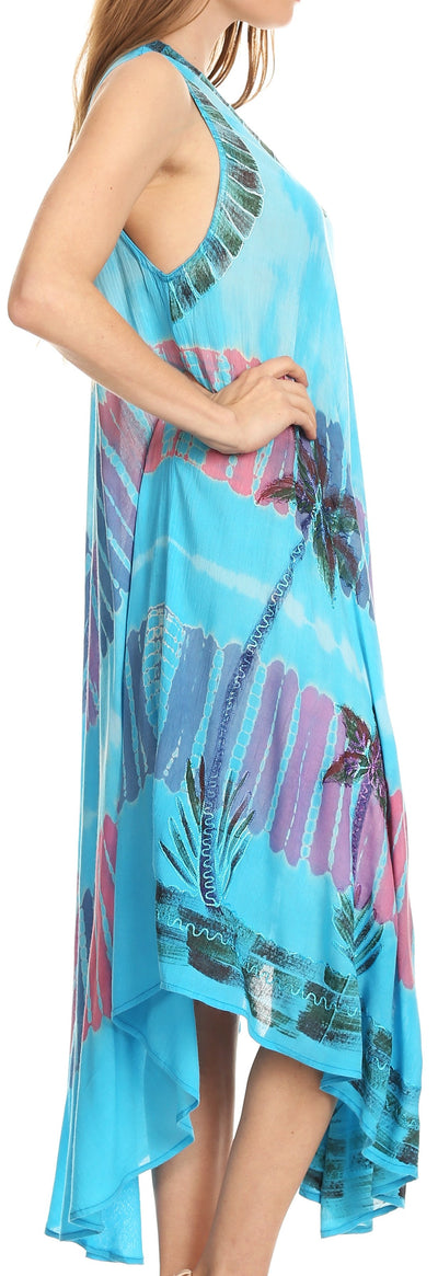 group-Turquoise (Sakkas Tasanee Caftan Tank Dress / Cover Up)
