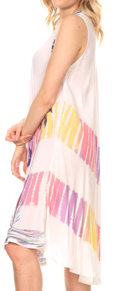 group-White (Sakkas Tasanee Caftan Tank Dress / Cover Up)