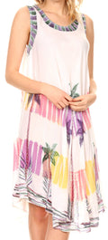 Sakkas Tasanee Caftan Tank Dress / Cover Up#color_White