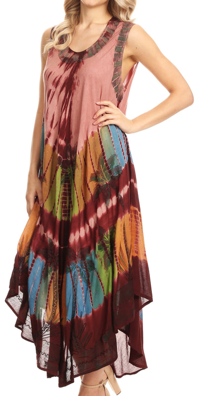 group-Wine (Sakkas Tasanee Caftan Tank Dress / Cover Up)