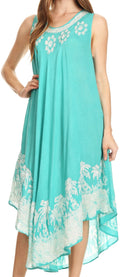 Sakkas Sundari Caftan Tank Dress / Cover Up#color_Mint