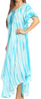 Sakkas Melika Tie Dye Caftan Dress