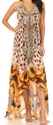 Sakkas Lizi Womens Maxi High-low Halter Handkerchief Long Dress Beach Party