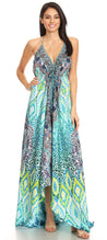 group-TRG225-Green (Sakkas Marina Womens Maxi High-low Halter Handkerchief Long Dress Beach Party)
