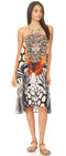 group-EW259-White (Sakkas Eva Women's Casual Summer Cocktail Boho Sleeveless Short Dress with Print)