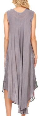 Sakkas Keola Women's Maxi Caftan Bathing Suit Cover Up Summer Dress Sleeveless
