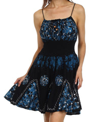 Sakkas Aurora Batik Short Dress