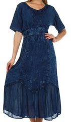 Sakkas Arabella Embroidered Empire Waist Dress