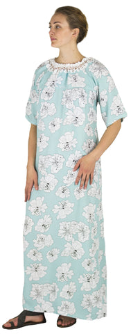 Sakkas Maha Soft Womens Short Sleeve Nightgown Sleep Dress Breathable No Bunch Up