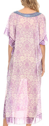 group-Tile Purple (MKY Astryd Women's Flowy Maxi Long Caftan Dress Cover Up with Rhinestone)