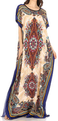 Sakkas Aggy Womens Dashiki African Print Caftan Dress Maxi Boho Hippie Colorful#color_Style5