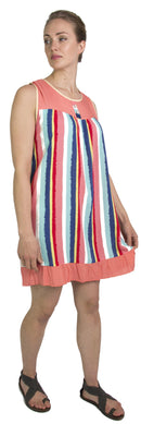 Sakkas Aidan Women Summer Short Shift Dress Colorful Loose Boho Casual Sleeveless
