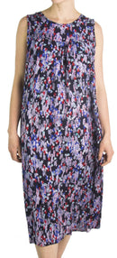 Sakkas Amare Women Bohemian Swing Midi Dress Sleeveless Summer Floral Tribal Print