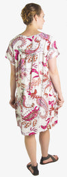 group-White (Sakkas Aila Women Summer Casual Short Sleeve Flowy Cover up Dress Floral Print)