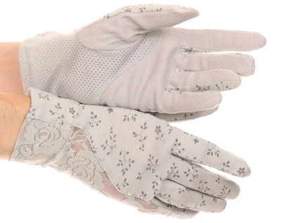 Sakkas Annie wrist length antique look femminine assorted stretch glove with lace