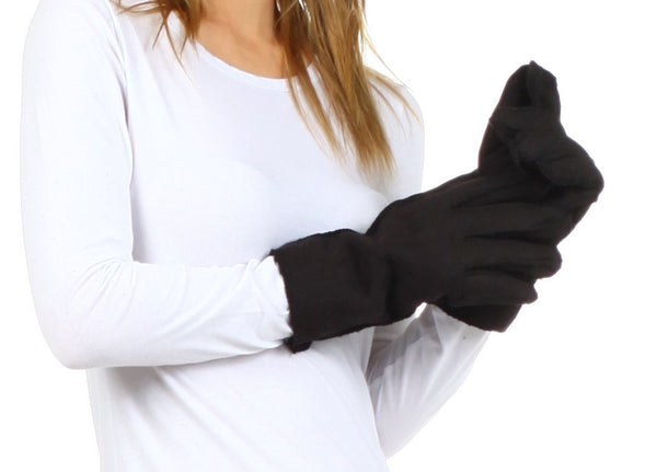 Sakkas Women's Sueded Fabric Warm Winter Gloves