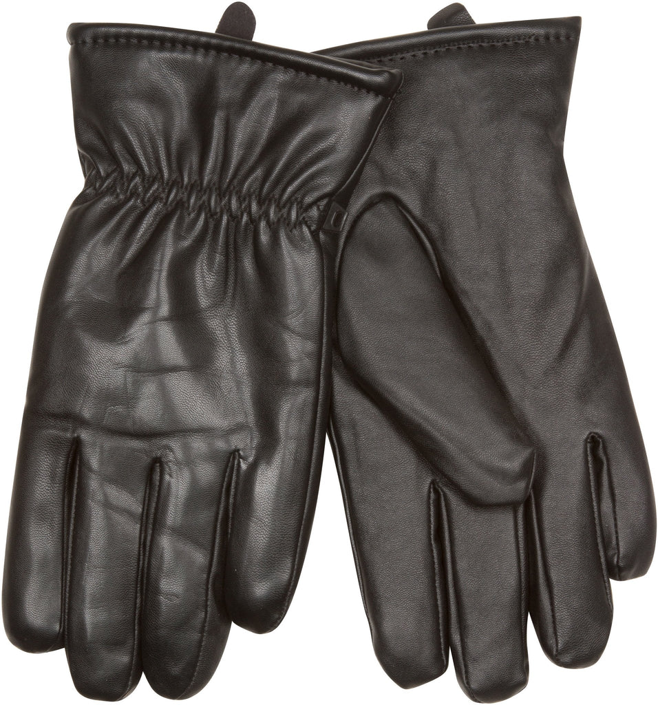 Sakkas Timothy Leather Plush Lined Gloves