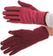 Sakkas Lidy Leather Embroidered Comfortable Warm Snow Touch Screen Finger Gloves#color_Red