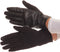 Sakkas Pamb Faux Leather Heather Knit Button Front Warm Winter Touch Screen Gloves#color_Black