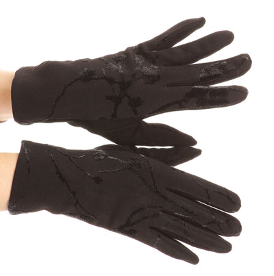 group-17100-black (Sakkas Liya Classic Warm Driving Touch Screen Capable Stretch Gloves Fleece Lined)