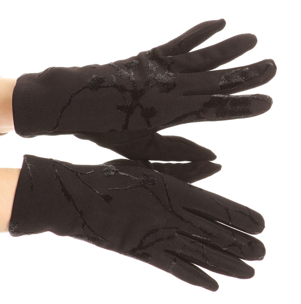 Sakkas Liya Classic Warm Driving Touch Screen Capable Stretch Gloves Fleece Lined#color_17100-black