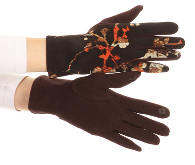 group-17100-orange (Sakkas Liya Classic Warm Driving Touch Screen Capable Stretch Gloves Fleece Lined)