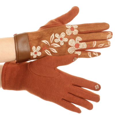group-17101-camel (Sakkas Liya Classic Warm Driving Touch Screen Capable Stretch Gloves Fleece Lined)