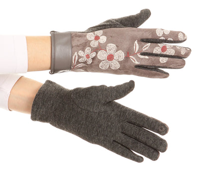 group-17101-medium/gray (Sakkas Liya Classic Warm Driving Touch Screen Capable Stretch Gloves Fleece Lined)
