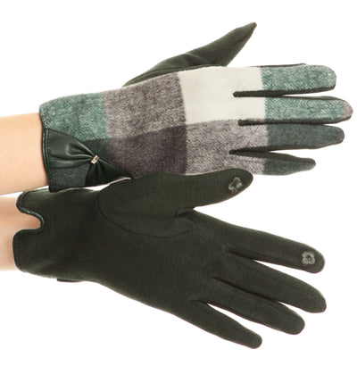 group-17102-hunter/green (Sakkas Liya Classic Warm Driving Touch Screen Capable Stretch Gloves Fleece Lined)
